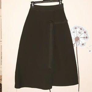 New Dark Green Chicwish Midi-Skirt